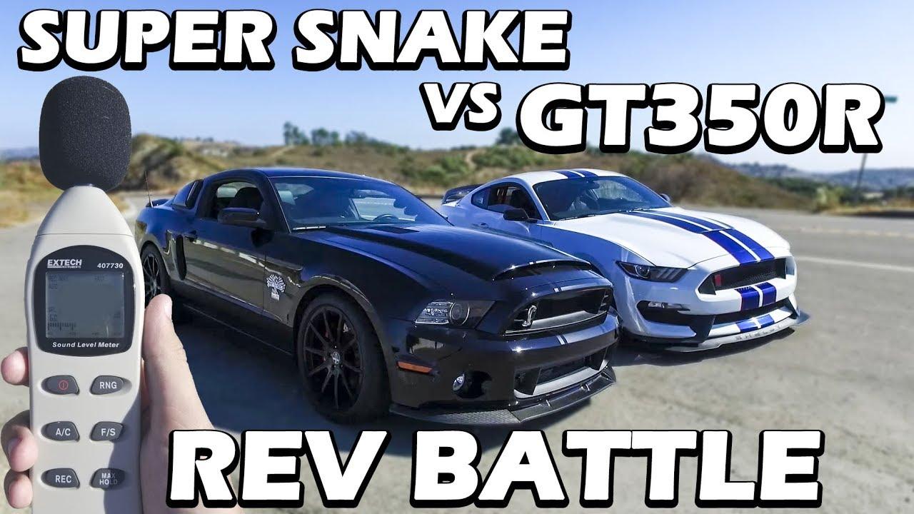 GT350R VS GT500 Super Snake - YouTube