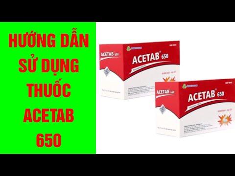 Hướng dẫn sử dụng thuốc Acetab 650