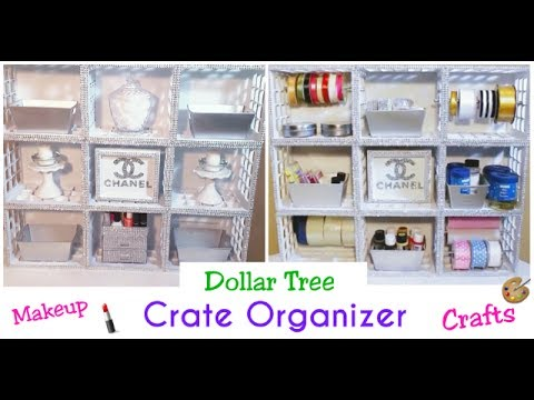 DIY $1 Dollar Tree Crate Organizer!!!!| Makeup Organizer | Chanelle Novoséy