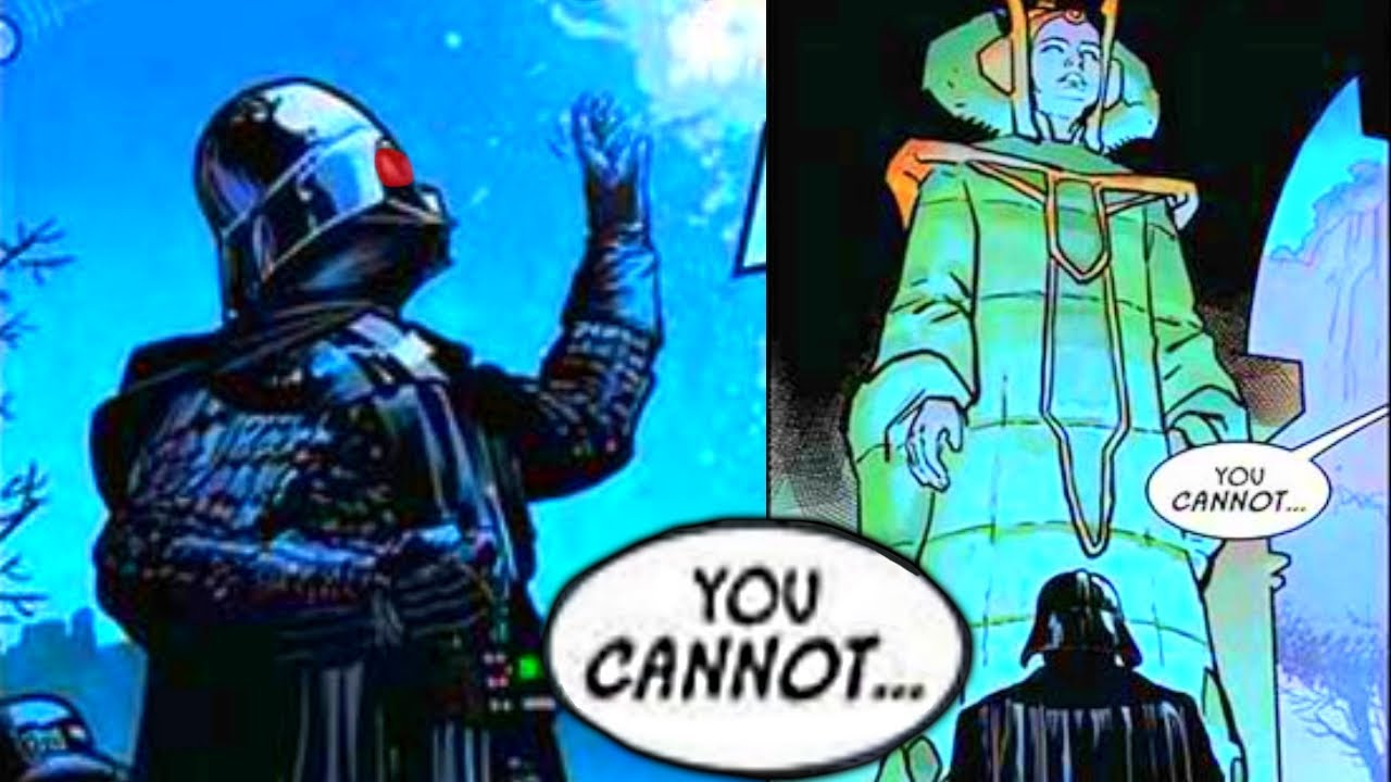 PADME'S GHOST STOPS DARTH VADER FROM ENTERING HER TOMB(CANON) - Star Wars Comics Explained
