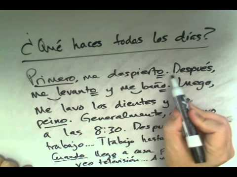 Asking and Answering Questions in Spanish, Part 8: Daily Routine ...
