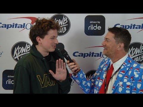 Dave Ryan interviews Charlie Puth backstage at KDWB Jingle Ball 2017