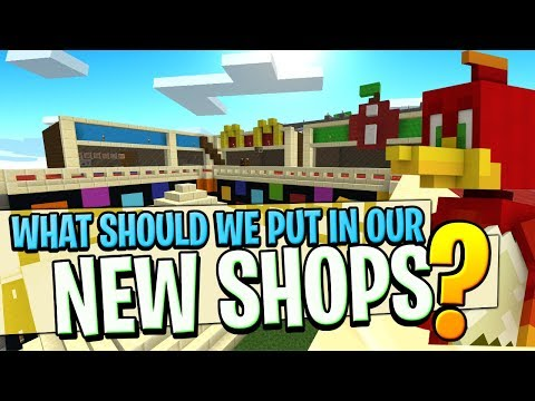 YOU CHOOSE what we put in our Brand New Shops ? : The Divide Minecraft xbox [16]