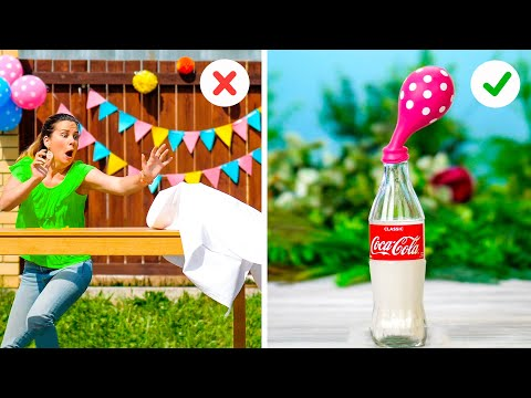 PARTY DECOR IDEAS! | 25 Useful summer party hacks to make your life easier