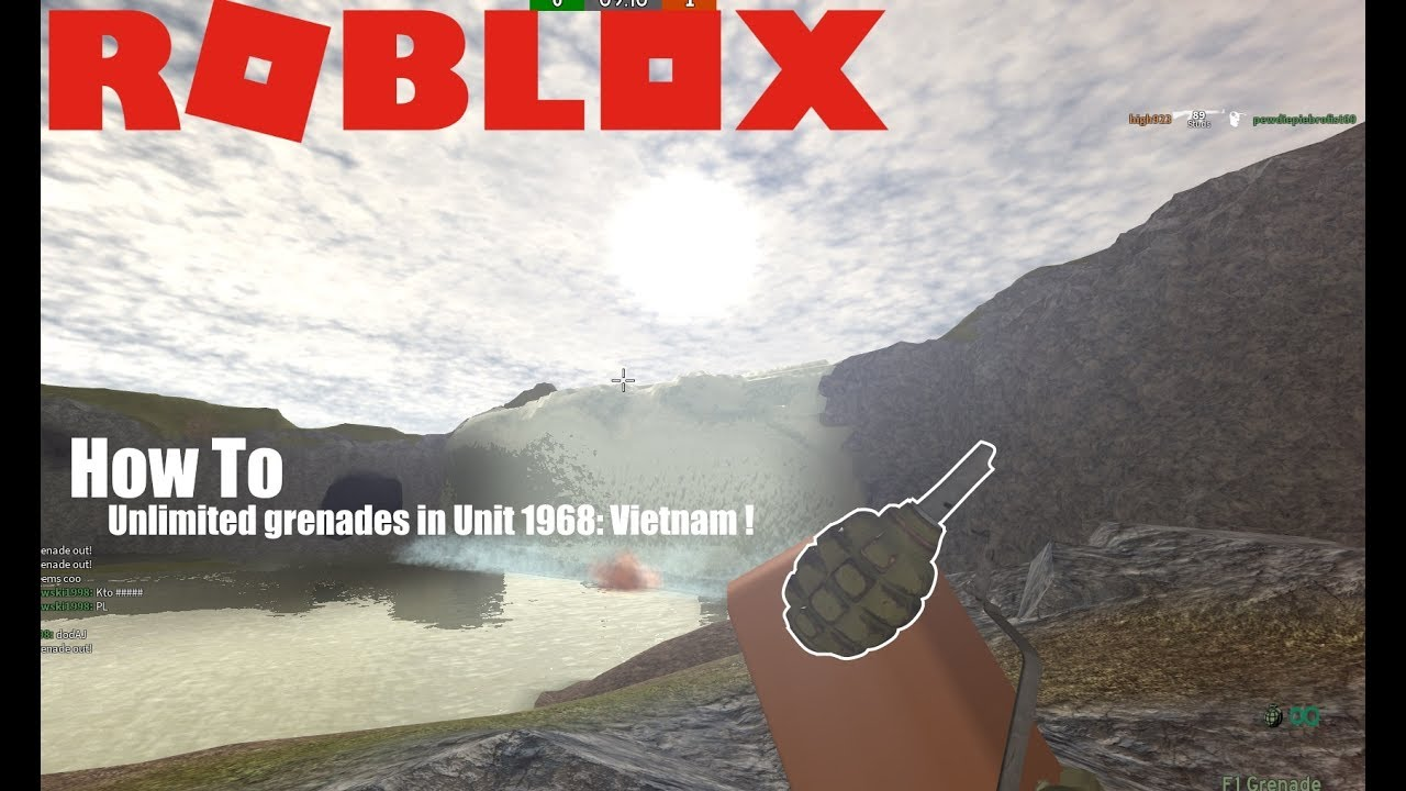 Roblox How To Get Unlimited Grenades In Unit 1968 Vietnam Youtube