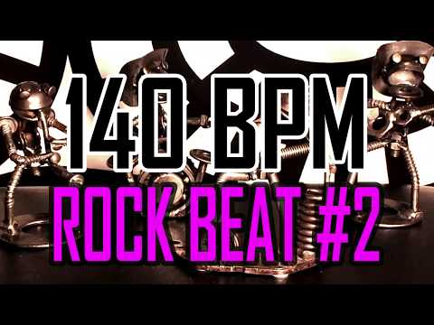 140 BPM - Rock Beat #2 - 4/4 Drum Beat - Drum Track