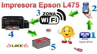 Impresora Epson Multifuncional EcoTank L475 (Imprimir | Escanear | desde Móvil)