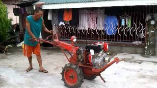 Converted Diesel Hand Tractor in Low and High Speed Forward with Reverse