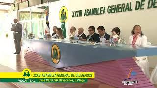 Eddy Álvarez Presidente Federacion Cooperativa FECOOPCEN en Asamblea Cooperativa Vega Real