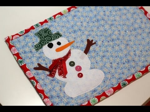 Frosty The Snowman Mug Rug Diy Tutorial Youtube