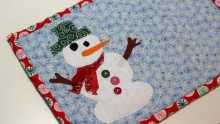 Frosty the Snowman Mug Rug - DIY Tutorial