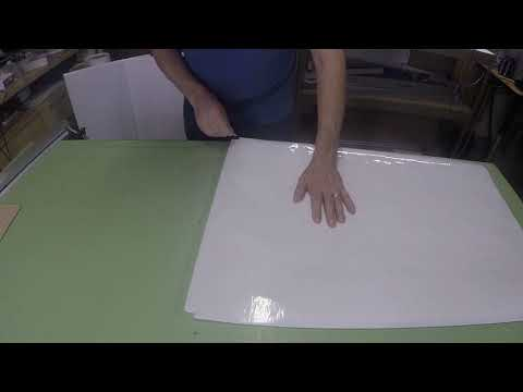 Applying Laminating Film to Foam Board for RC Airplanes