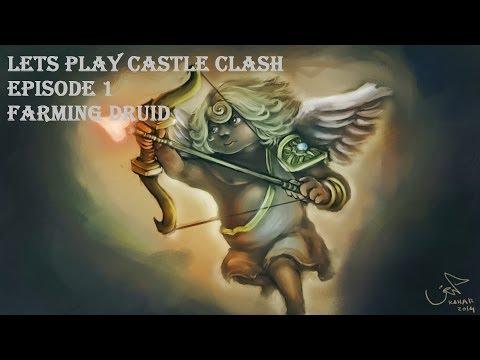 Lets Play Castle Clash Episode 1: Farming Druid