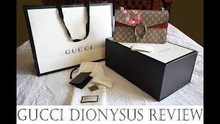 Gucci Dionysus Bag Review Blooms Small inc comparisons to Chanel Double Flap bag medium/large
