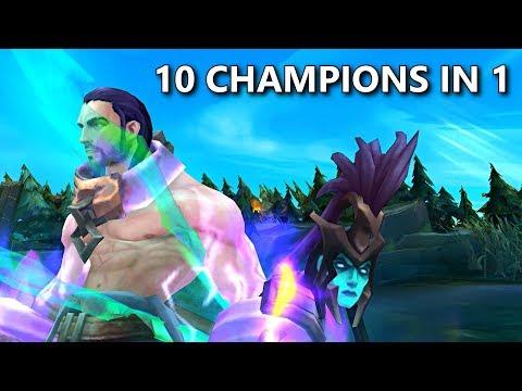 10 CHAMPIONS IN 1! (2x Kalista, Sylas, Yuumi, Tahm, Kayn)