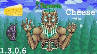 Terraria  - Cheese the Moon Lord - Expert Mode - Defense Stack