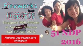 Fireworks 烟花綻放 - SG51 NDP 2016 Preview 新加坡国庆预演 (30 July 2016)