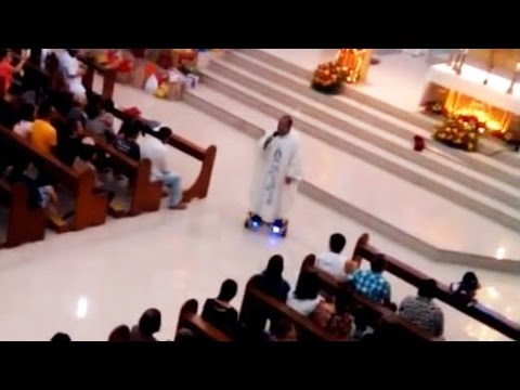 Hoverboarding Priest Gets In Trouble