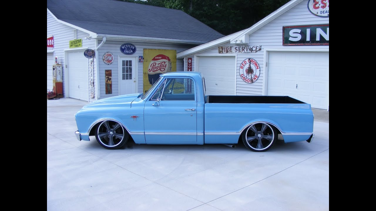 Truck 67 72 chevy truck for sale : 1967 Bagged Chevy C10 Custom pickup truck air ride BADD ASS - YouTube