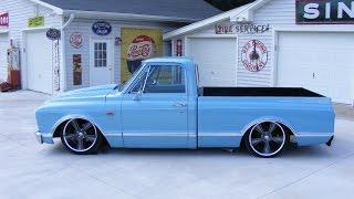 1967 Bagged Chevy C10 Custom pickup truck air ride BADD ASS