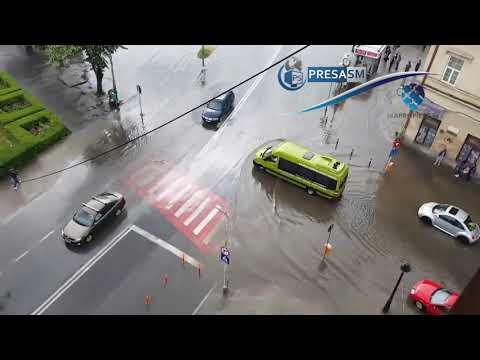 Inundatii in municipiul Satu Mare