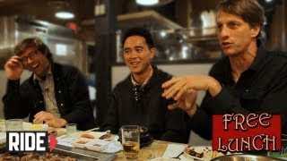 Jeremy Klein, Tony Hawk, and Willy Santos on Free Lunch