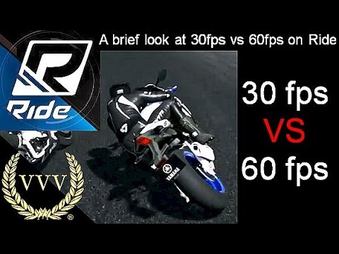 A brief look at 30fps vs 60fps on Ride
