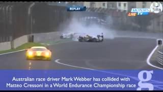 Mark Webber Involved In Horror Crash In WEC São Paulo Race Video Sport The Guardian