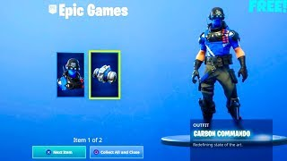 *NEW* FREE! Carbon Commando SKIN..! (PS Exclusive) Fortnite Battle Royale
