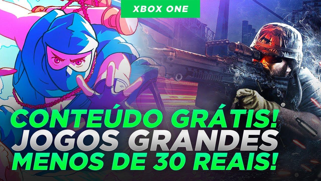 CORRE! CONTEÚDO GRÁTIS no GAME PASS e JOGOS GRANDES MENOS de 30 REAIS VALE MUITO A PENA!