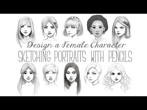 design-a-female-character:-sketching-portraits-with-pencils-promo