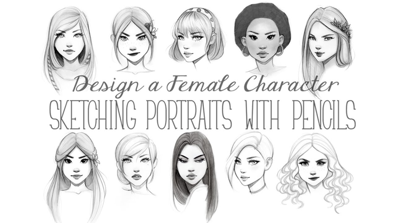 design female character sketching