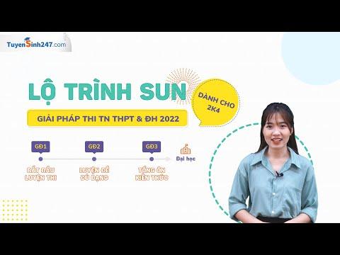 Lộ Trình SUN - Luyện Thi TN THPT 2022