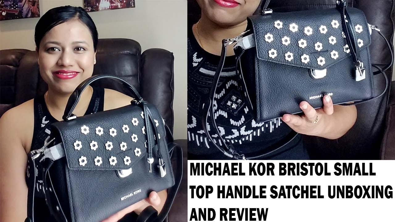 a4b49eee474b Michael kors bristol top handle small satchel unboxing and review ...