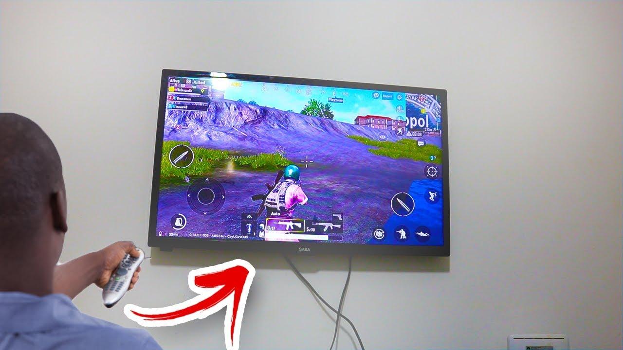 بهته الطريقة تمكنت من تشغيل لعبة pubg mobile على التلفاز ????