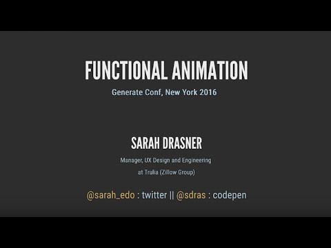 Sarah Drasner: Functional Animation