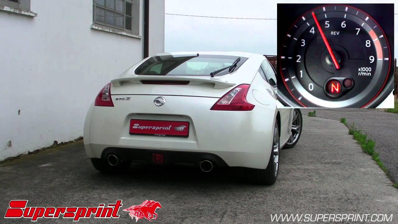 nissan 370z supersprint catback exhaust