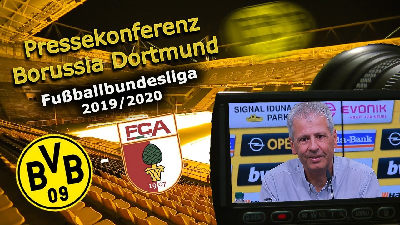 Borussia Dortmund - FC Augsburg: Pk mit Lucien Favre und Michael Zorc