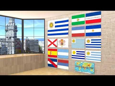 Himno y banderas de Uruguay | Uruguay flags and anthem