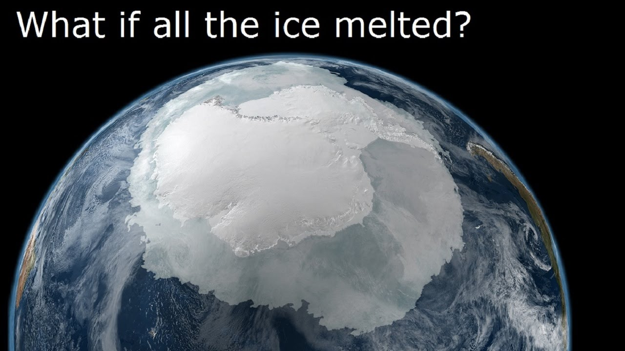 What If All The Ice Melted YouTube - Map reveals what the earth would look like if all the polar ice melted 2