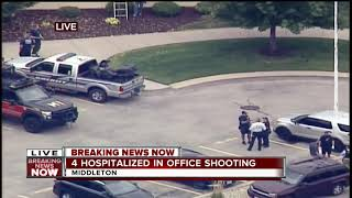 Law Enforcement armed with snipers on rooftops in Middleton
