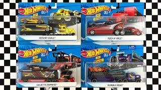 Unboxing Hot Wheels Semi Truck Trailer Rig Vehicles!