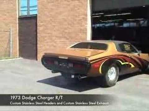 Custom Dodge Charger >> 1973 Dodge Charger with a Complete Kooks Custom Header System - YouTube