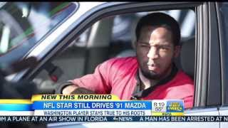 NFL Star Still Drives 1991 MAZDA 626 Alfred Morris