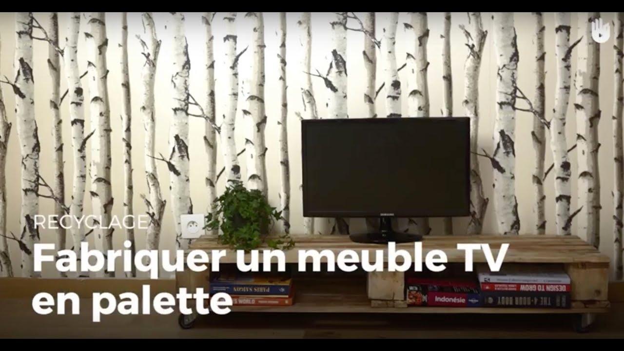fabriquer un meuble tv en palette recycler