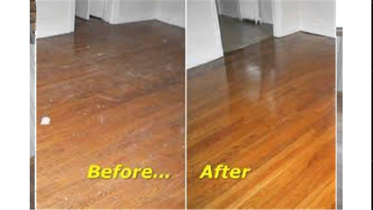 buffing hardwood floors - YouTube