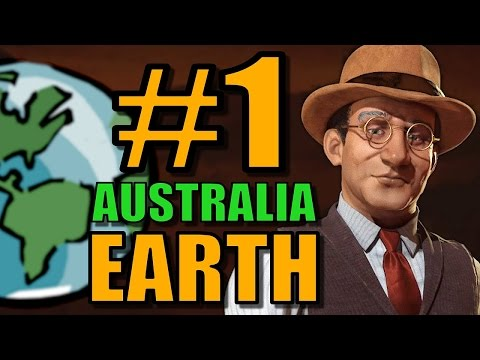 Civ 6: Australia Gameplay [True Start Earth Map] Let's Play Civilization 6 as Australia | Part 1