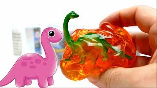 Unboxing Dinosaur Colorful Slime Box