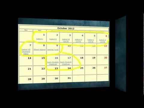 Jewish Holidays 2012