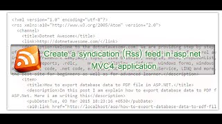 How to create a syndication (Rss) feed in asp.net MVC4 application